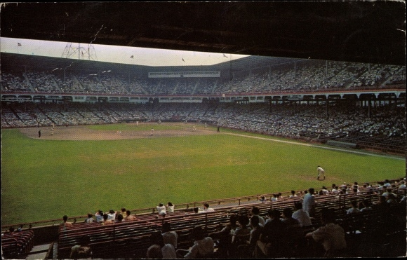 Ak Brooklyn New York City USA, Ebbets Field, Baseball Game, entire field, taken from the grandstand