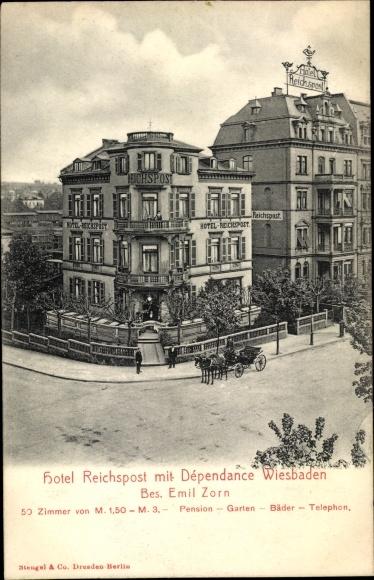 Ak Wiesbaden in Hessen, Hotel Reichspost