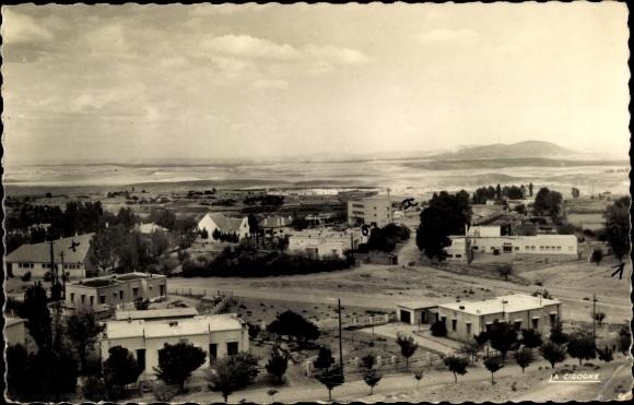 Ak Midelt Marokko, vue générale de la ville, paysage désertique