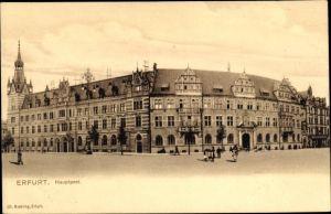 Ak Erfurt in Thüringen, Kaiserliches Hauptpostamt