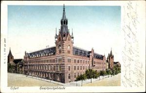 Leuchtfenster Ak Erfurt in Thüringen, Kaiserliches Hauptpostamt