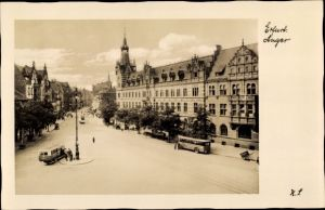 Ak Erfurt in Thüringen, Anger, Kaiserliches Hauptpostamt, Busse