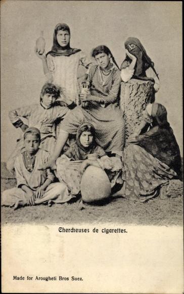 Ak Ägypten, Chercheuses de cigarettes