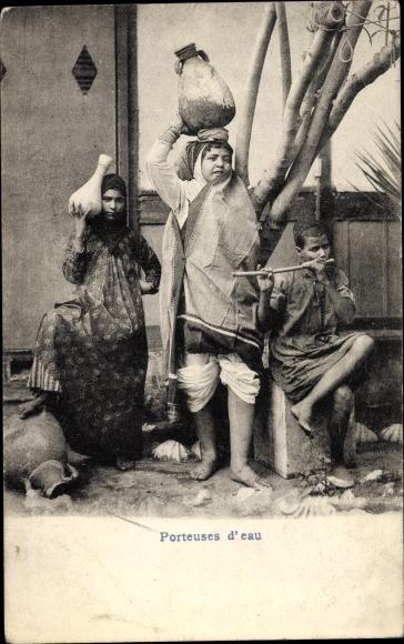 Ak Ägypten, Porteuses d'eau