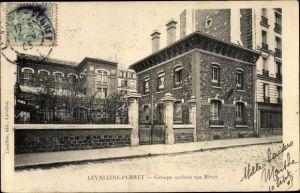 Ak Levallois Perret Hauts de Seine, Groupe scolaire Rue Rivay
