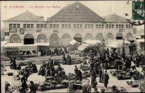 Ak Bourges Cher, Le Marché, Les Halles