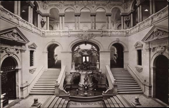Ak Lausanne Kt. Waadt Schweiz, Palais de Rumine, interieur