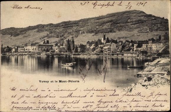 Ak Vevey Kt. Waadt Schweiz, Le Mont Pelerin