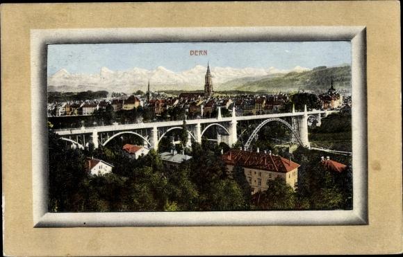 Ak Bern Stadt Schweiz, Panorama, Brücke