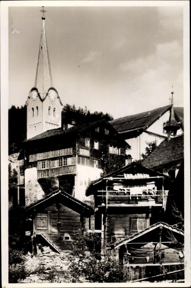 Ak Fiesch Kt. Wallis Schweiz, Teilansicht der Stadt