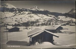 Ak Les Diablerets Ormont Dessus, Vue générale en hiver, neige