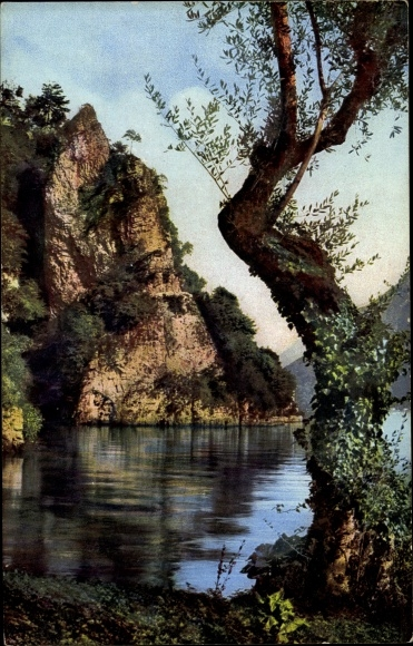Ak Gandria Lago di Lugano Kt. Tessin Schweiz, Rocco di Gandria
