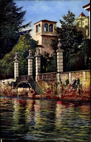 Ak Castagnola Cassarate Lugano Kt. Tessin, Villa Favorita