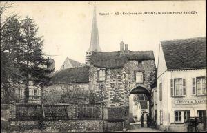 Ak Cezy Joigny environs Yonne, La vieille Porte, Epicerie