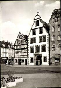 Ak Erfurt Thüringen, Weinrestaurant Hohe Lilie am Domplatz und Grüne Apotheke, G. Möbel Voigt
