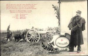 Ak 5e d'Artillerie, französische Soldaten, Geschütz