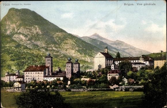 Ak Brigue Brig Glis Kt. Wallis Schweiz, Vue générale
