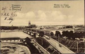 Ak Warszawa Warschau Polen, Widok na Prage, Ansicht von Praga