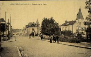 Ak Laroche Migennes Yonne, Avenue de la Gare