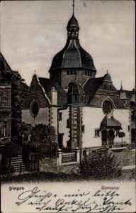 Ak Siegen in Nordrhein Westfalen, Ansicht der Synagoge