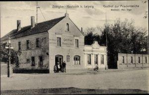 Ak Zöbigker Gautzsch Markkleeberg in Sachsen, Gasthof zur Friedenseiche
