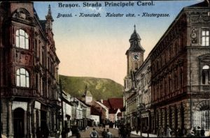 Ak Brassó Brașov Kronstadt Rumänien, Strada Principele Carol