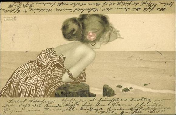 6 alte Jugendstil Künstler Ak Kirchner, Raphael, diverse Ansichten von Frauen