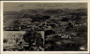 Ak Heiden Kt. Appenzell Außerrhoden Schweiz, Gasthaus zum Rossbüchel, Panorama vom Ort, Kaiserpaar