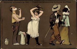 Künstler Ak Guillaume, Albert, Paris, Expo 1900, Théâtre des Bonshommes Guillaume, La Frise