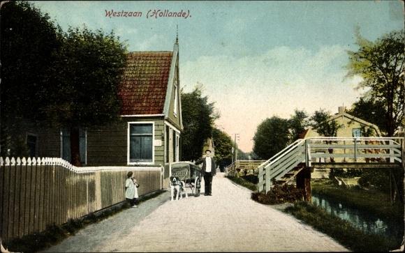 Ak Westzaan Zaandam Zaanstad Nordholland, Straßenpartie