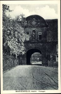 Ak Marienfeld Harsewinkel Westfalen, Blick auf den Torbogen