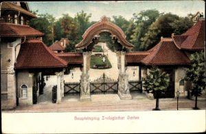 Ak Berlin Charlottenburg, Haupteingang Zoologischer Garten