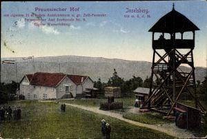 Ak Brotterode Trusetal in Thüringen, Preussischer Hof, Inselsberg, Aussichtsturm