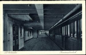 Ak Dampfer Columbus, Passagierschiff, Norddeutscher Lloyd, Promenadendeck