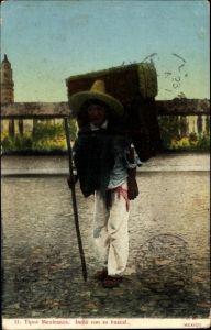 Ak Mexiko, Tipos Mexicanos, Indio con su huacal, Ureinwohner
