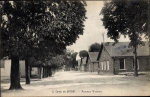 Ak Versailles Yvelines, Camp de Satory, Avenue Vauban