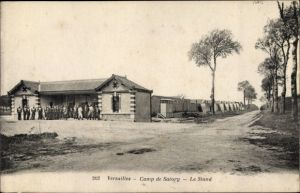 Ak Versailles Yvelines, Camp de Satory, Le Stand