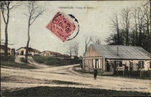 Ak Versailles Yvelines, Camp de Satory, baraques
