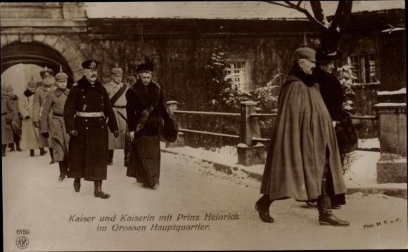 Ak Kaiser Wilhelm II., Kaiserin Auguste Viktoria, Prinz Albert Wilhelm Heinrich von Preußen