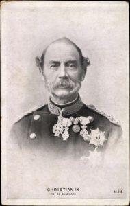 Ak Christian IX König von Dänemark, Portrait