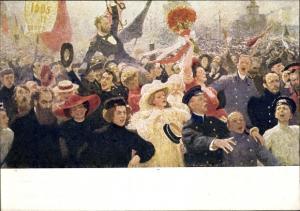 Künstler Ak Repin, I.E., 17. Oktober 1905, Russische Revolution