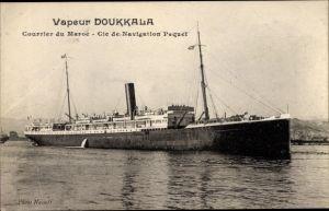 Ak Dampfer Doukkala, Compagnie de Navigation Paquet