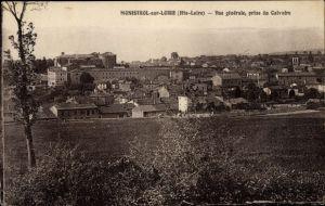 Ak Monistrol sur Loire Haute Loire, Vue générale, prise du Calvaire