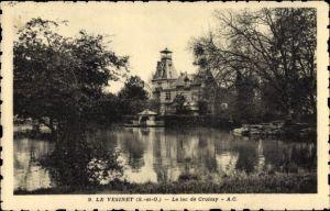 Ak Le Vesinet Yvelines, Le Lac de Croissy, la Gare