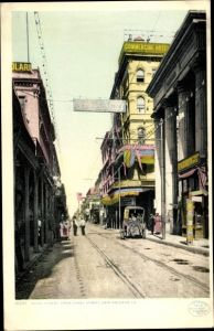 Ak New Orleans Louisiana USA, Royal Street, View from Canal Street