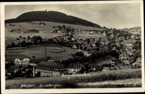 Ak Vejprty Weipert Region Aussig, Panorama mit Berg Bärenstein
