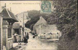 Ak Arromanches Calvados, Rue de l'Abreuvoir, le lavoir