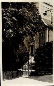 Foto Ak Gautzsch Markkleeberg in Sachsen, Ansicht der Kirche