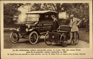 Ak La dix millionième voiture automobile sortie le 4 juin 1924, Henry Ford