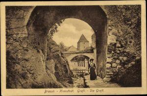 Ak Brassó Brașov Kronstadt Rumänien, Die Graft, Tor
